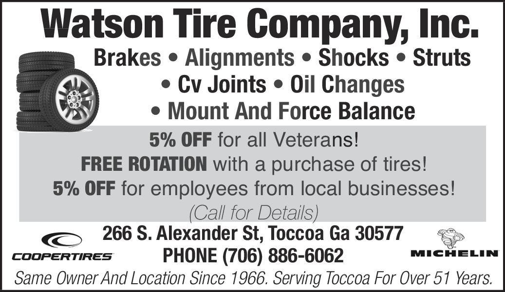 5% Off for Brakes, Alignments and all Veterans in Toccoa, GA, Auto ...
